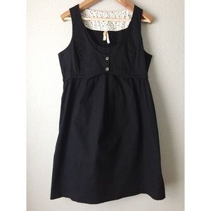 Anthro Maeve Little Black Vest Dress